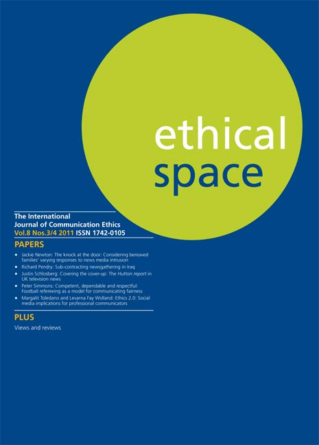 Ethical Space Vol. 8 Issue 3/4