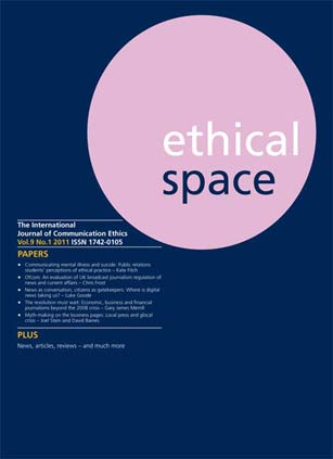 Ethical Space Vol. 9 Issue 1