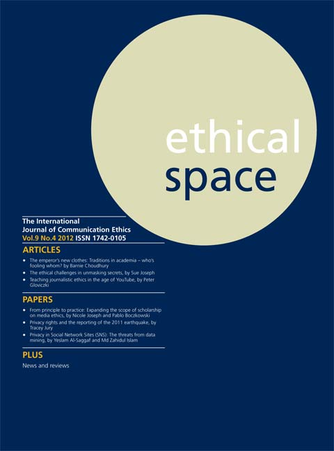 Ethical Space Vol. 9 Issue 4