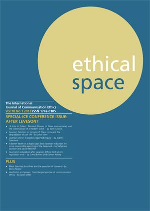 Ethical Space Vol. 10 Issue 1