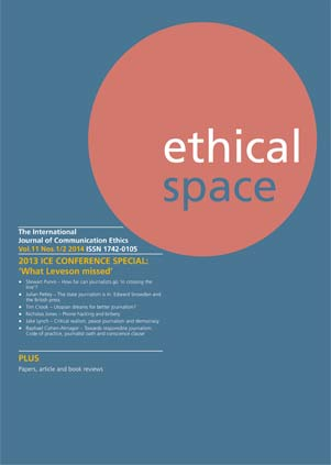 Ethical Space Vol. 11 Issue 1/2