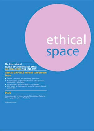 Ethical Space Vol. 12 Issue 1